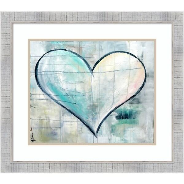 Framed Art Print 'Look of Love Heart' by Kami Lerner