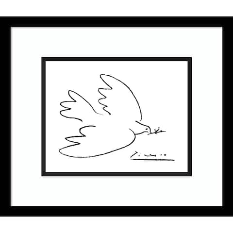 Framed Art Print 'Dove of Peace' by Pablo Picasso