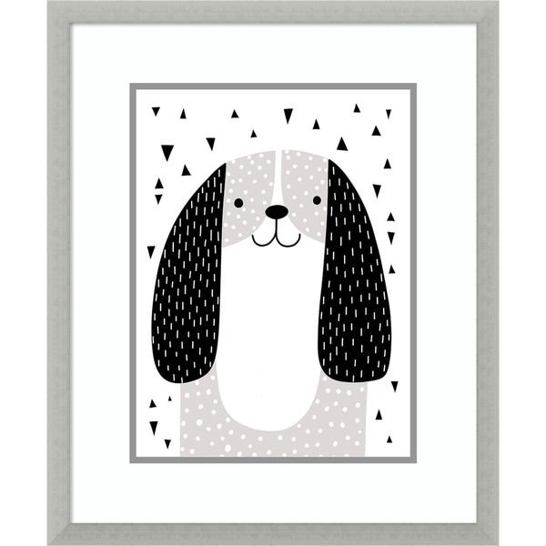 Framed Art Print 'Mix and Match Animal VII Dog' by Victoria Borges
