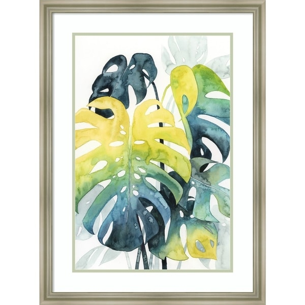 Framed Art Print 'Sunset Palm Composition I' by Grace Popp