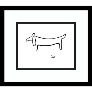 Framed Art Print 'Le Chien (The Dog)' by Pablo Picasso