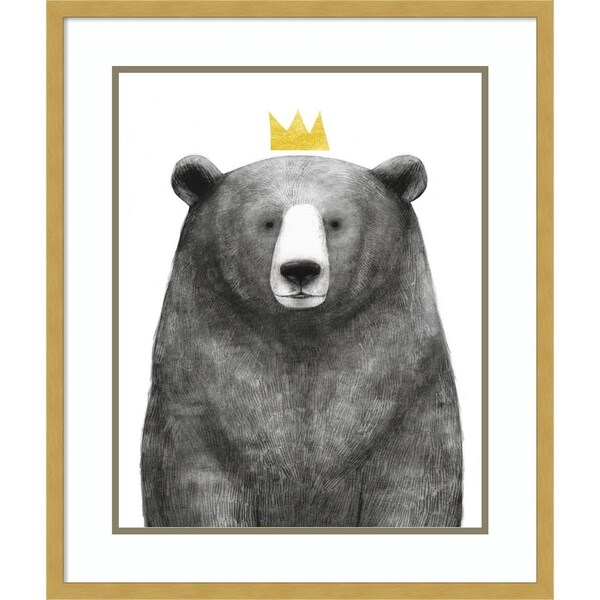 Framed Art Print 'Royal Forester I Bear' by Victoria Borges