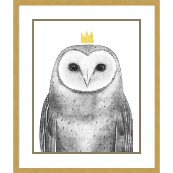 Framed Art Print 'Royal Forester II Owl' by Victoria Borges