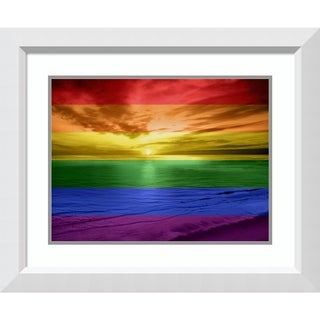Framed Art Print 'Rainbow Sunset' by Maggie Olsen