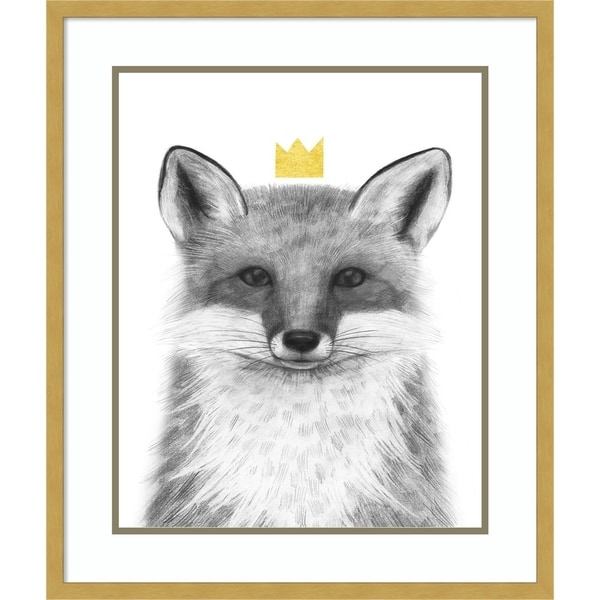 Framed Art Print 'Royal Forester III Fox' by Victoria Borges