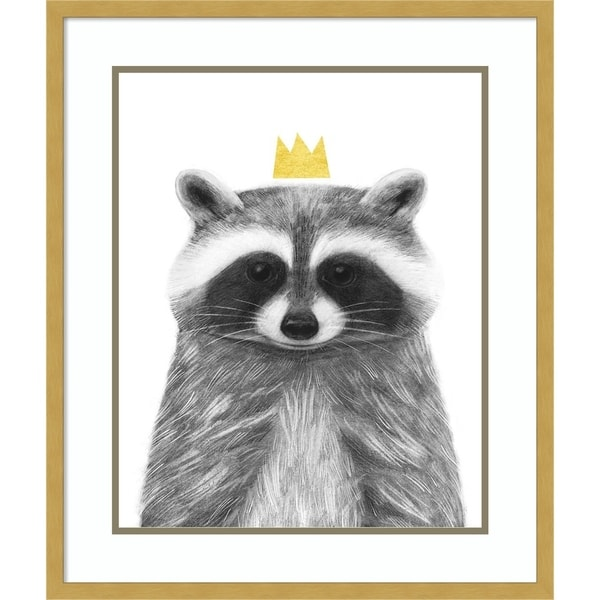 Framed Art Print 'Royal Forester IVb Raccoon' by Victoria Borges