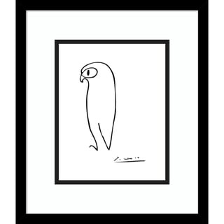 Framed Art Print 'Owl' by Pablo Picasso
