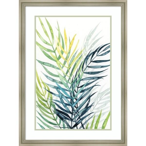 Framed Art Print 'Sunset Palm Composition II' by Grace Popp