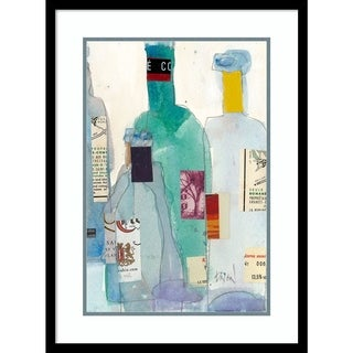Framed Art Print 'The Wine Bottles II' by Samuel Dixon