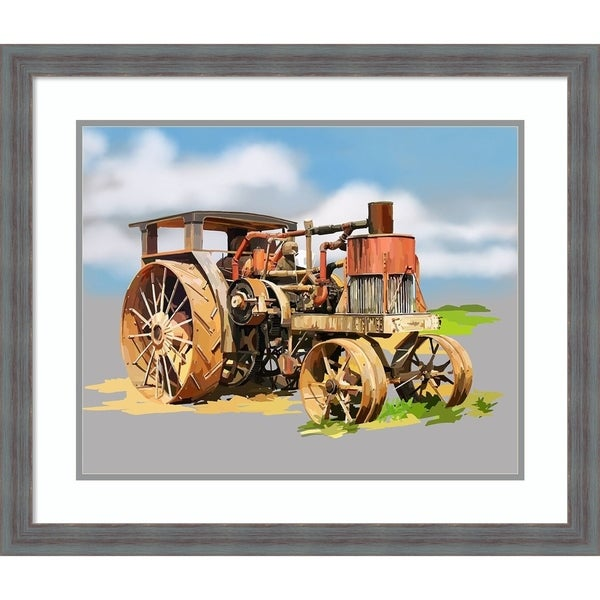Framed Art Print 'Vintage Tractor XII' by Emily Kalina