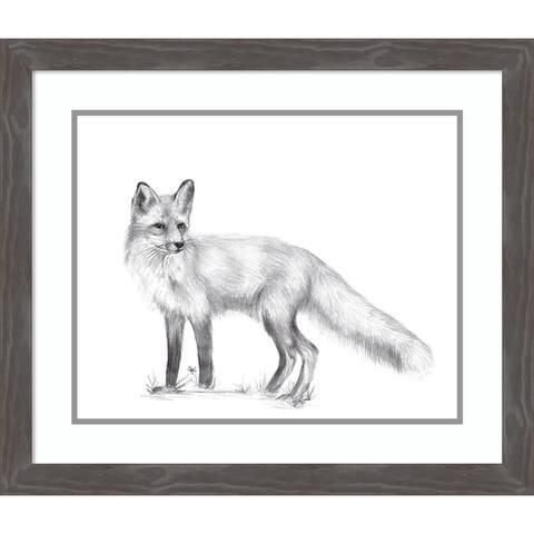 Framed Art Print 'Wildlife Trail I Fox' by Melissa Wang