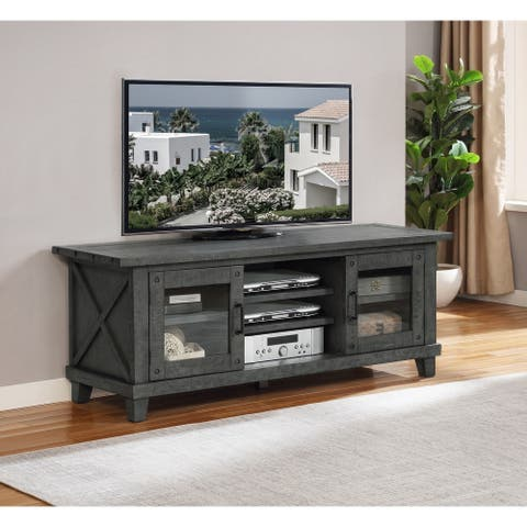 Best Quality Furniture Grey Rustic TV Stand
