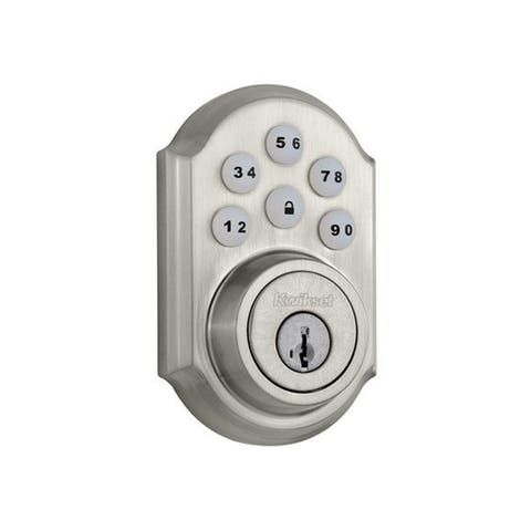 Kwikset 909 SmartCode Electronic Deadbolt SmartKey in Satin Nickel