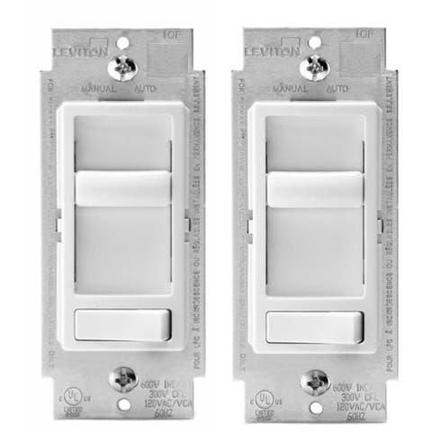 Leviton SureSlide Universal 150-Watt LED, White (2-Pack)