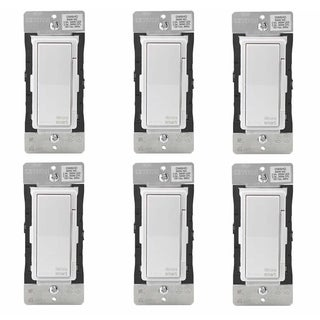 Leviton Decora Smart Wi-Fi 600W LED/Incandescent 300W Dimmer (6 Pack) - N/A