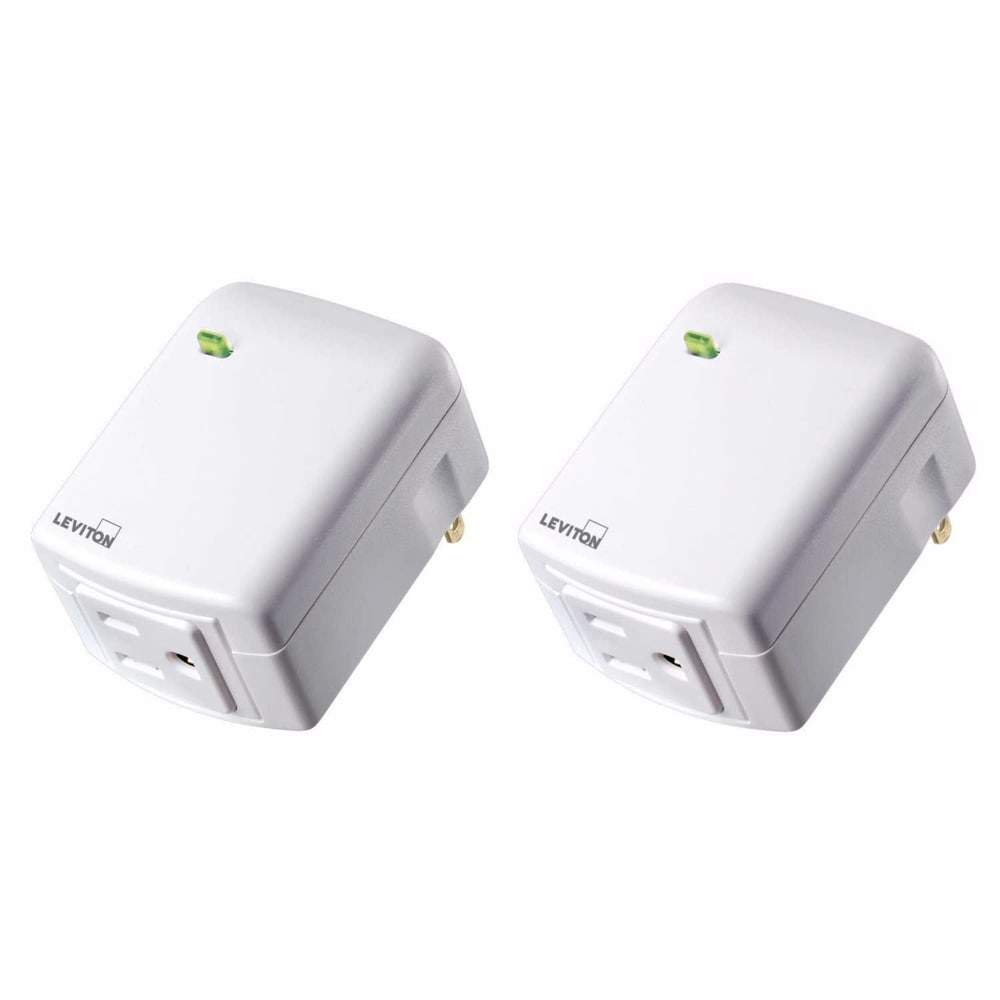 Leviton DZPA1-2BW Decora Smart Plug-in Outlet w/ Z-Wave Plus Tech(2pk)