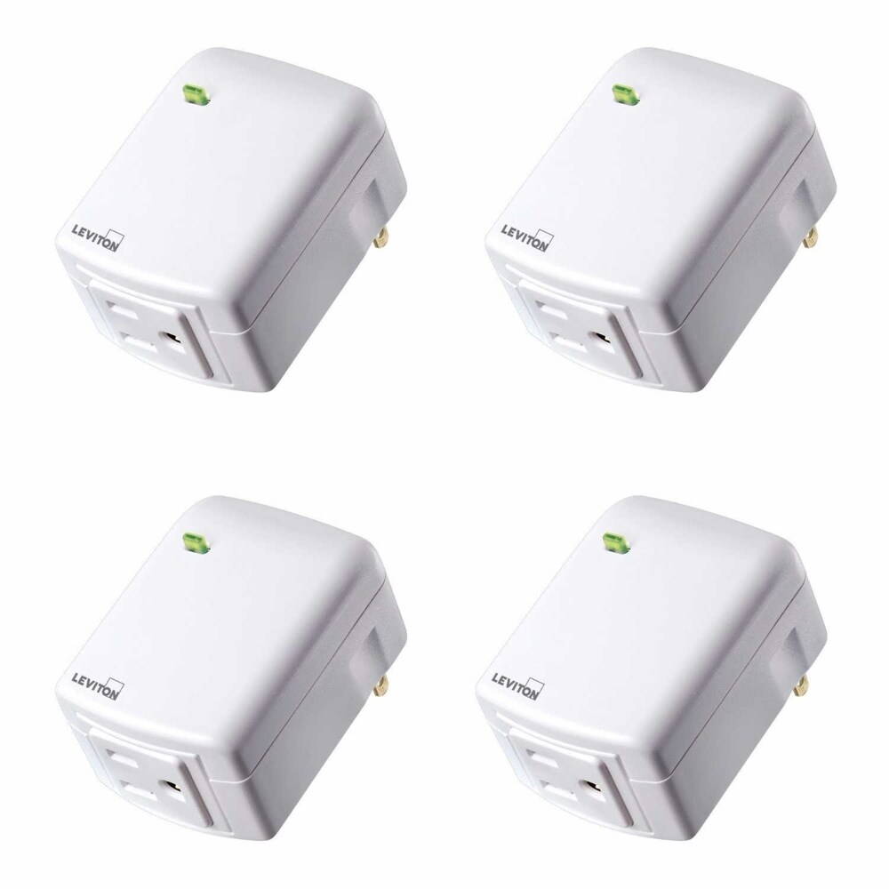 Leviton DZPA1-2BW Decora Smart Plug-in Outlet w/ Z-Wave Plus Tech(4pk)