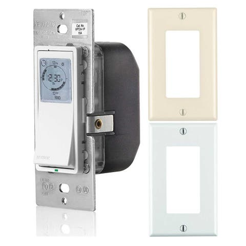 Leviton Vizia 24-Hour Programmable Indoor Timer with Wall Plates - N/A