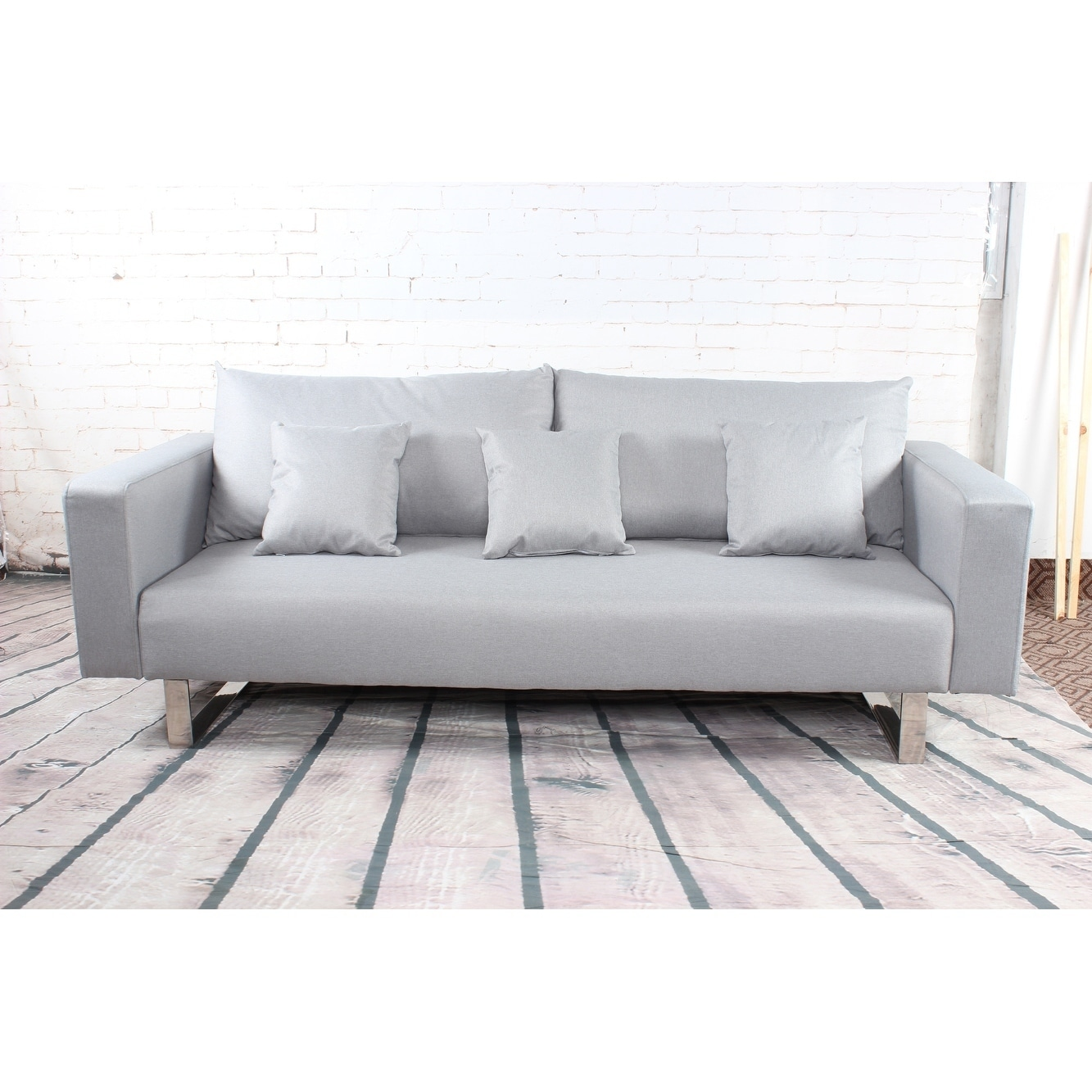 Modern Grey Sleeper Sofa