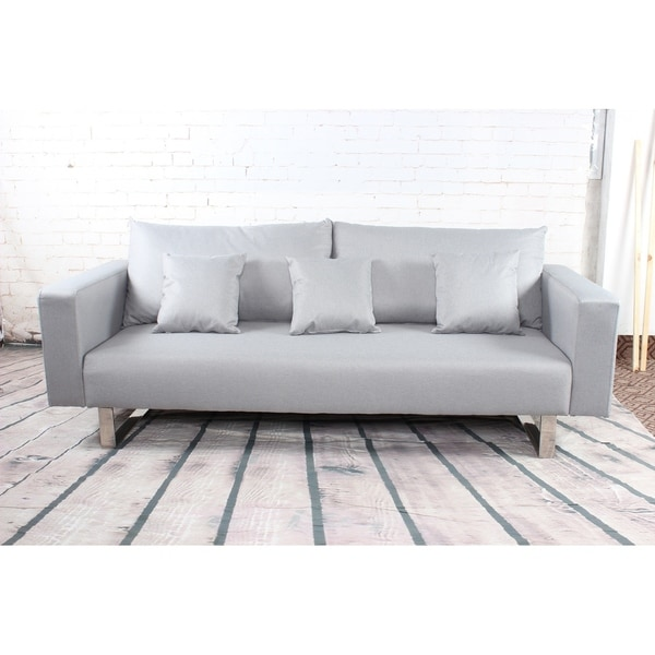 Modern Grey Sleeper Sofa