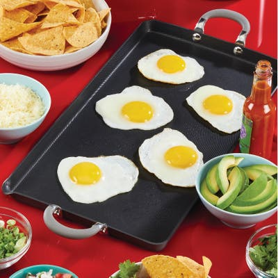 """Circulon Elementum Nonstick Square Griddle, 11"""", Oyster Grey"""