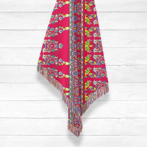 Uptight Paisley Woven Luxury Cotton Woven Throw by Amrita Sen