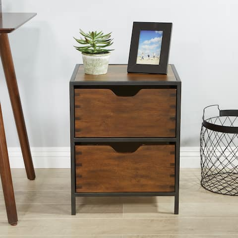OSP Home Furnishings Clermont 2 Drawer Storage Cabinet