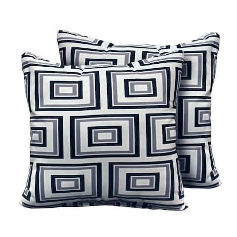 kathy ireland Homes & Gardens Atrium Pillow in Slate Square Set of 2