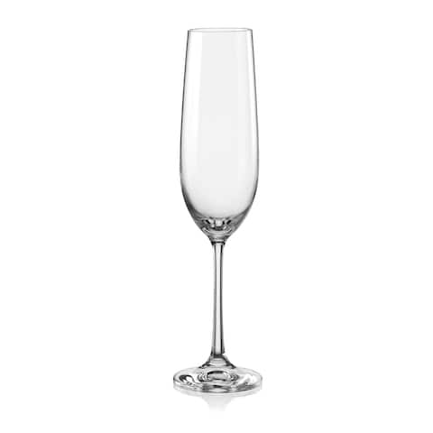 Christopher Knight Collection Fluted Champagne Glass Set of 6 - N/A