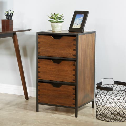 OSP Home Furnishings Clermont 3 Drawer Storage Cabinet