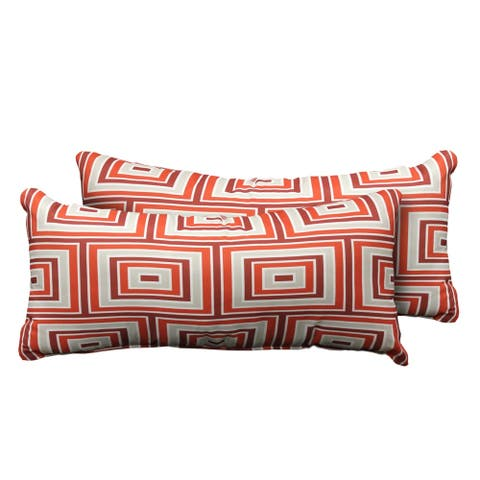 kathy ireland Homes & Gardens Atrium Pillow in Persimmon Rectangle Set of 2