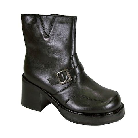PEERAGE Hilda Women Extra Wide Width Comfort Leather Dress Booties
