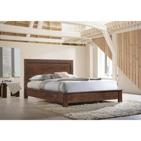 Strick & Bolton Alsa Wenge Queen Bed