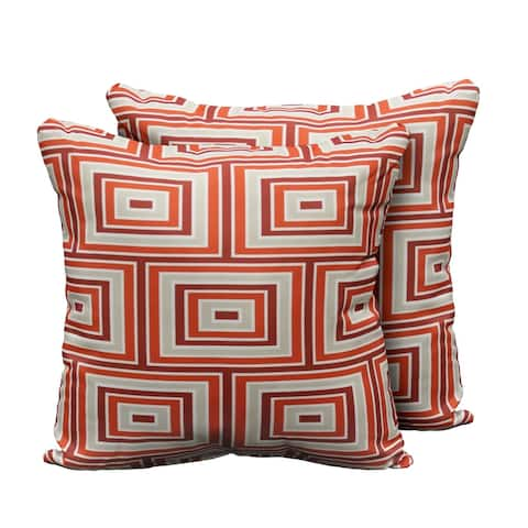 kathy ireland Homes & Gardens Atrium Pillow in Persimmon Square Set of 2