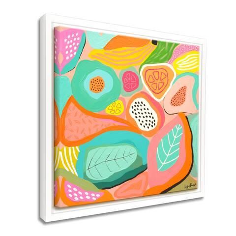 'Fruit of Fiesta' Framed Canvas Tropical Wall Art