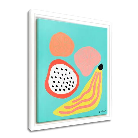 'Fruity Friday' Framed Canvas Tropical Wall Art