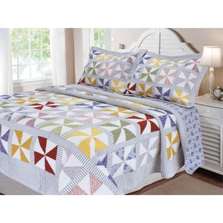 The Gray Barn Westlake Patchwork Carnival Pinwheel Quilt in Twin Size - (As Is Item)