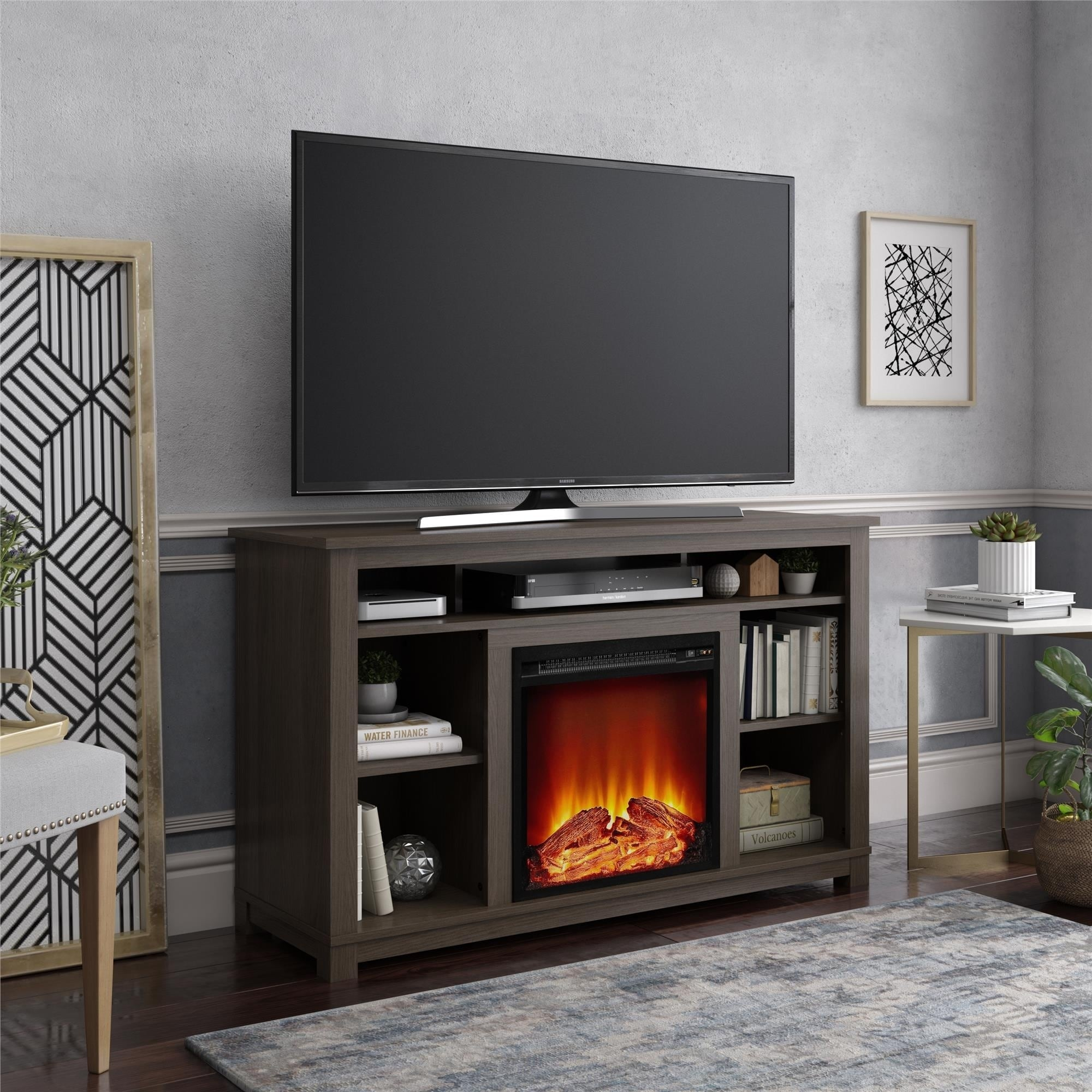 Avenue Greene Barrown Downs Fireplace Tv Stand For Tvs Up To 55 Inches