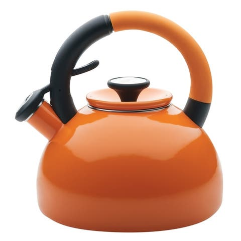 Circulon Enamel-on-Steel Morning Brew Teakettle, 2-Quart