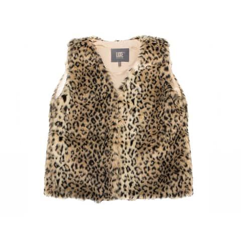 Faux Vest - leopard size m