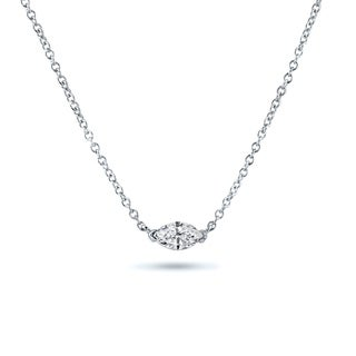 Marquise Soltiaire Diamond Necklace 1/4ctw 14k Gold by Auriya