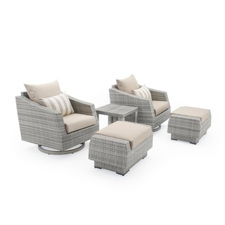 Shop Cannes 5pc Motion Club Chair Amp Ottoman Set In Bliss