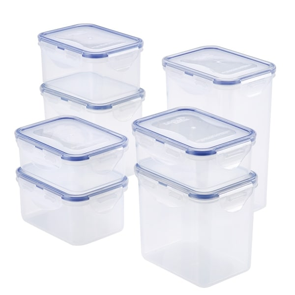 Easy Essentials Rectangular Food Storage Container Set, 14pc