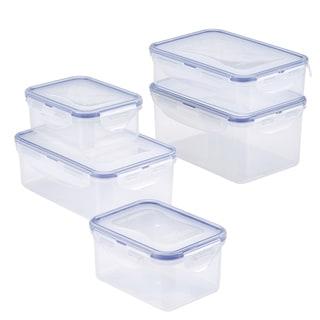 Easy Essentials Rectangular Food Storage Container Set, 10pc