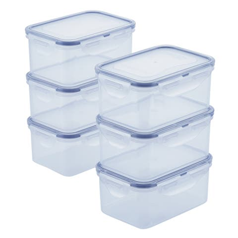 Easy Essentials 20oz Rectangular Food Storage Container, Set of 6
