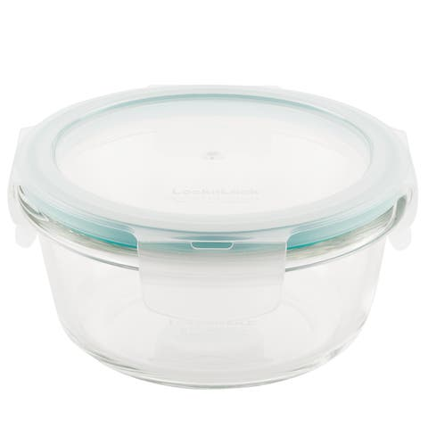 Lock and Lock Purely Better Glass Round Food Storage Container, 13oz