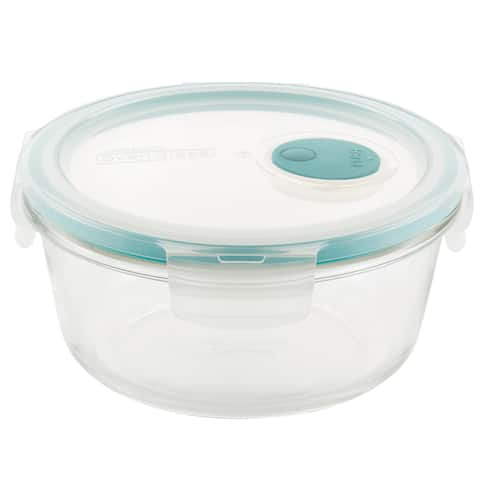 Lock and Lock Purely Better Vented Glass Food Storage Container, 22oz