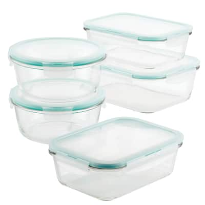 Lock and Lock Purely Better Glass Assorted Food Storage Container Set