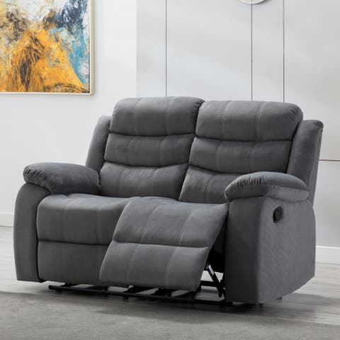 Jim Grey Upholstered Reclining Living Room Loveseat