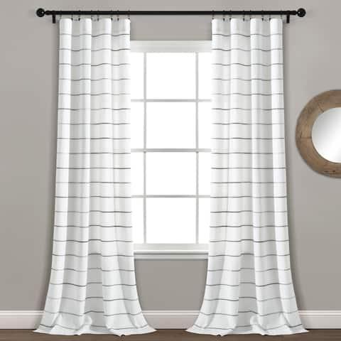 Carson Carrington Pajebo Ombre Stripe Cotton Curtain Panel Pair